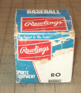 "Vintage RAWLINGS ""RO"" BASEBALL in Original Unopened Box - NOS - NIB - Yowza"