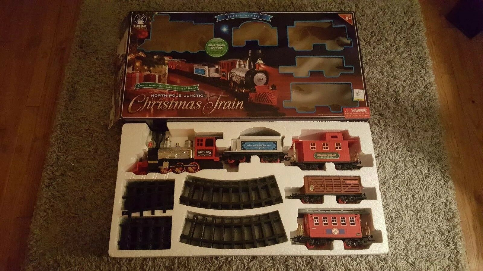 Blu Hat North Pole Junction 35 pc  Christmas Train Set WILL split 4 REPLACEMENT  consegna rapida