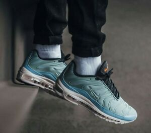 Details about 7 MEN'S Nike Air Max 97 Plus BLUE Mica Green Barely Rose AH8144 300