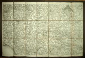 DEPARTEMENT DU MORBIHAN, VANNES, LORIENT carte geographique XVIIIeme siècle