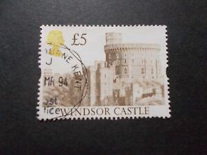 GB-1992-Castles-Stamps-5-Brown-Value-Very-Fine-Used-C-UK-Seller