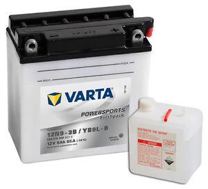 VARTA-POWERSPORTS-9-Ah-Motorrad-amp-Roller-Batterie-12V-9Ah-CB9L-B-OVP