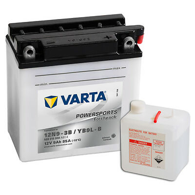 VARTA POWERSPORTS 9 Ah Motorrad & Roller Batterie 12V 9Ah CB9L-B OVP