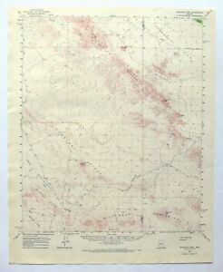 Eagletail Mountains Arizona Vintage USGS Topo Map 1962 Gila Bend ...