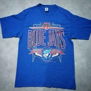Rare-Vintage-90s-Logo-7-Toronto-Blue-Jays-Spell-Out-MLB-Baseball-T-shirt-Retro