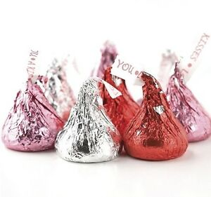 Image Is Loading Valentine Hershey Kisses Red Silver Amp Pink Free