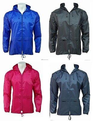 Ausdauernd New Unisex Mens Womens Plus Size Kagool Lightweight Rain Jacket Coat Xxl/3xl/4xl Um Der Bequemlichkeit Des Volkes Zu Entsprechen