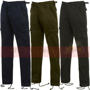 Mens Combat Work Trousers Workwear Pro Cargo Pants Security Army Casual Uniform