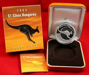 2004 1oz 1 Silver Kangaroo Quot Proof Coin Quot Royal