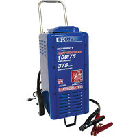 Associated Battery Charger 6/12 Volt, 100/75 Amp Charge, 375 Amp Crank Assist