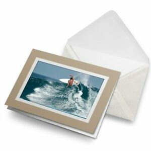 Greetings-Card-Biege-Cool-Surfer-Guy-Surfing-Wave-Ocean-8134