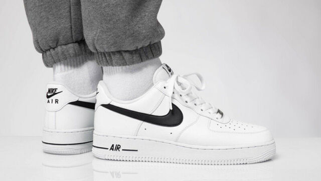 Nike Air Force 1 '07 Black White Retro Classic Trainers Low Top Shoes All Sizes