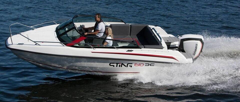 Sting 610 DC - 115 HK Yamaha/Udstyr, Motorbåd, årg. 2021