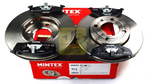 MINTEX FRONT AXLE BRAKE SET DISCS REAL IMAGE OF PART PADS FOR SEAT VW MDK0100