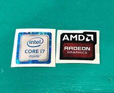 AMD Radeon Graphics Intel Core i7 Sticker Combo 6th/7th Gen Case Badge PC/L