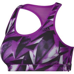 Running sportivo Purple Womens Ladies Adidas Fitness Top Nuovo Training Fitness reggiseno w47cUqOO