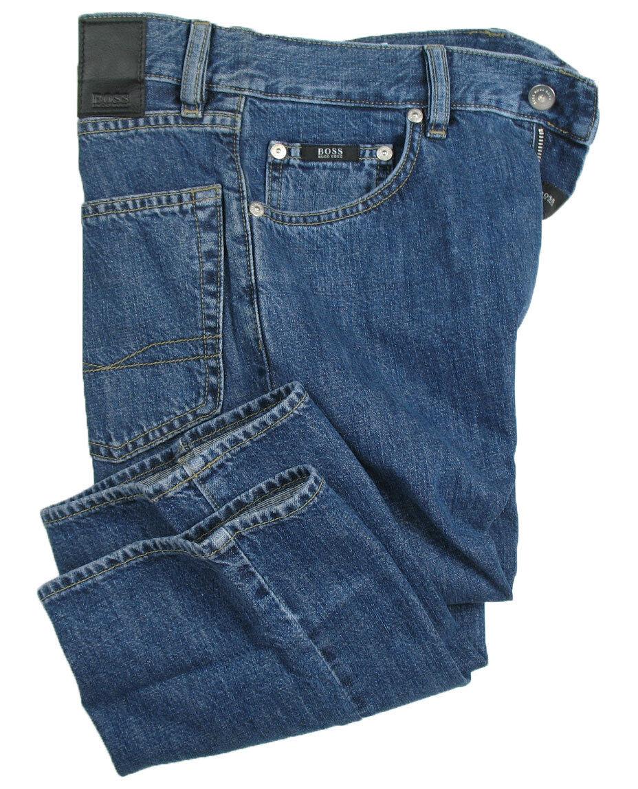 Boss nero Jeans ARKANSAS IN W29 L34 (regolare (regolare (regolare dritto) blu LAPIDATO 4da935