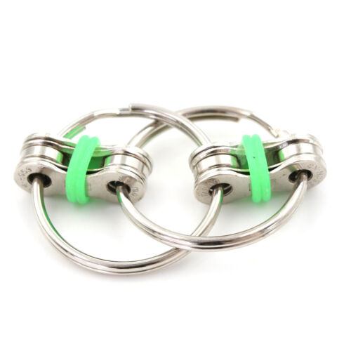 Bicycle Chain Fidget Metal Hand Spinner Key Ring Sensory Toy Stress Relieve XBUK