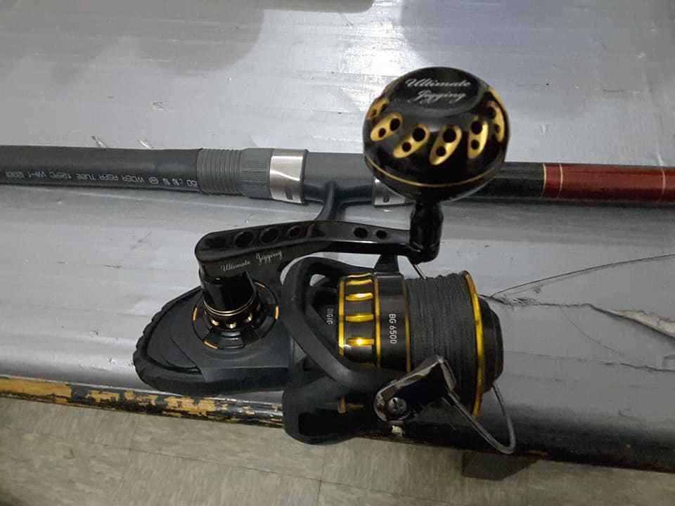 UJ PA001 W/PRK45mm knob for Daiwa Saltiga Dog Dog Saltiga Fight BG 60008500 reel BK/GD 4d413c
