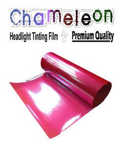 2xA4 Chameleon Green Car Motorbike Headlight Rearlight Adhesive Tint Film PVC
