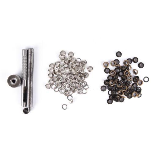 1x eyelet tool set grommet kit+100 eyelets for diy kydex sheath huning parts Pip