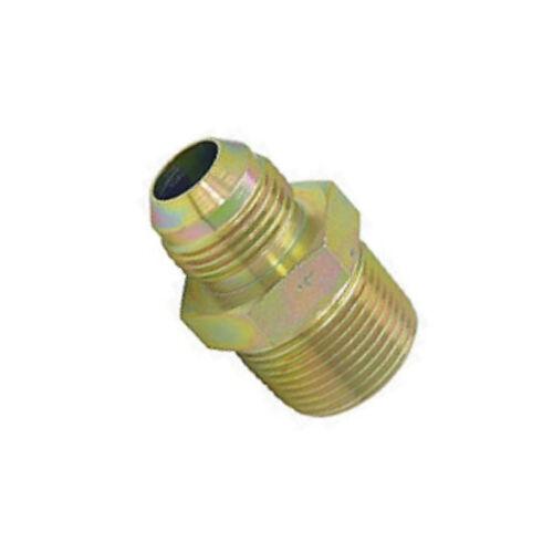 "Hydraulic Fitting Steel Adapter 1//2/"" Male BSPT to #8 Male JIC 3//4-16 AN-08 B-4O"