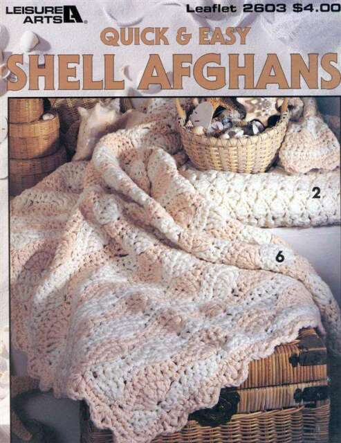 Leisure Arts Quick Easy Shell Afghans 2603 Crochet Patterns 7