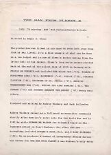 THE MAN FROM PLANET X(1951) Four pages of production notes
