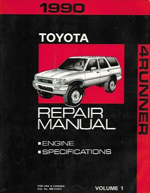 1990 Toyota 4runner Repair Manuals  2