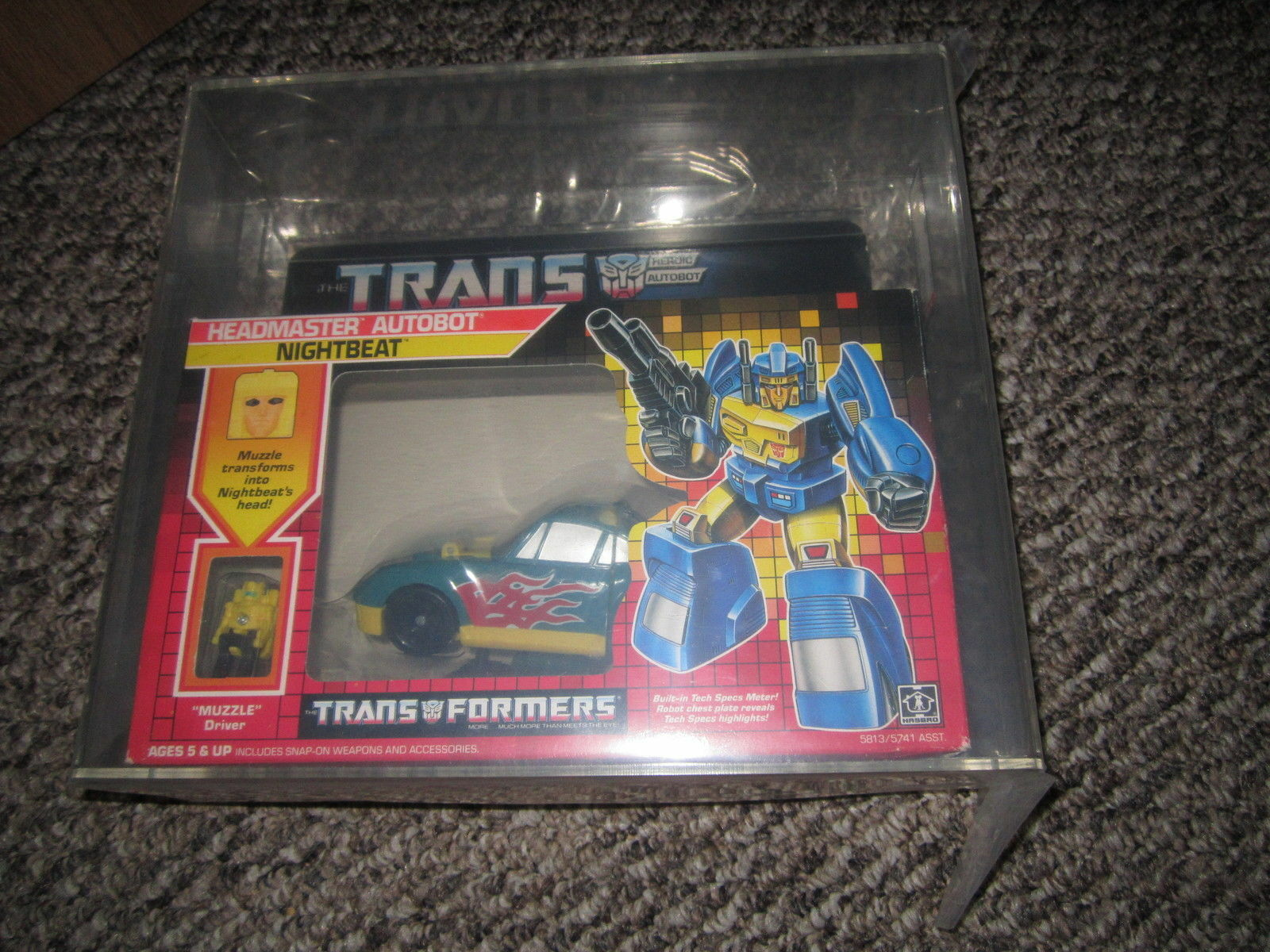 G1 Transformers headmaster nightbeat afa 80 mosc mib complete