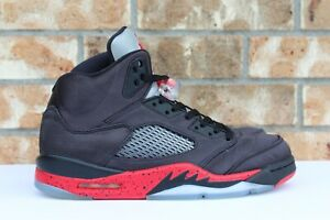 newest 730d8 405c6 Details about Men s Nike Air Jordan 5 V Retro Satin Bred Black University  Red Sz 10 136027-006