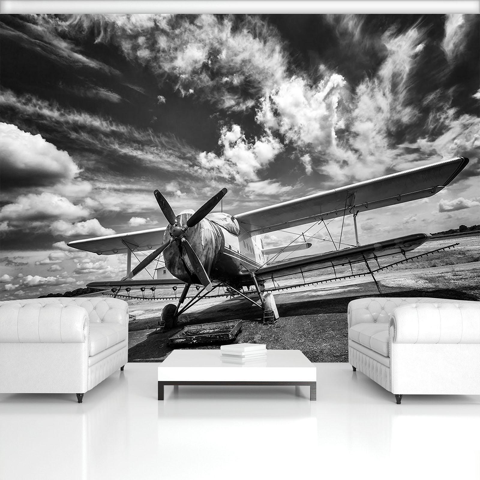 Vließ Fototapete Tapete Wandbild Photo Wallpaper Mural Flugzeug 11384