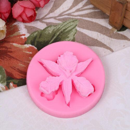 Silicone moule 3D fleur d'orchidée forme gaufrage gâteau Fondant outils décor