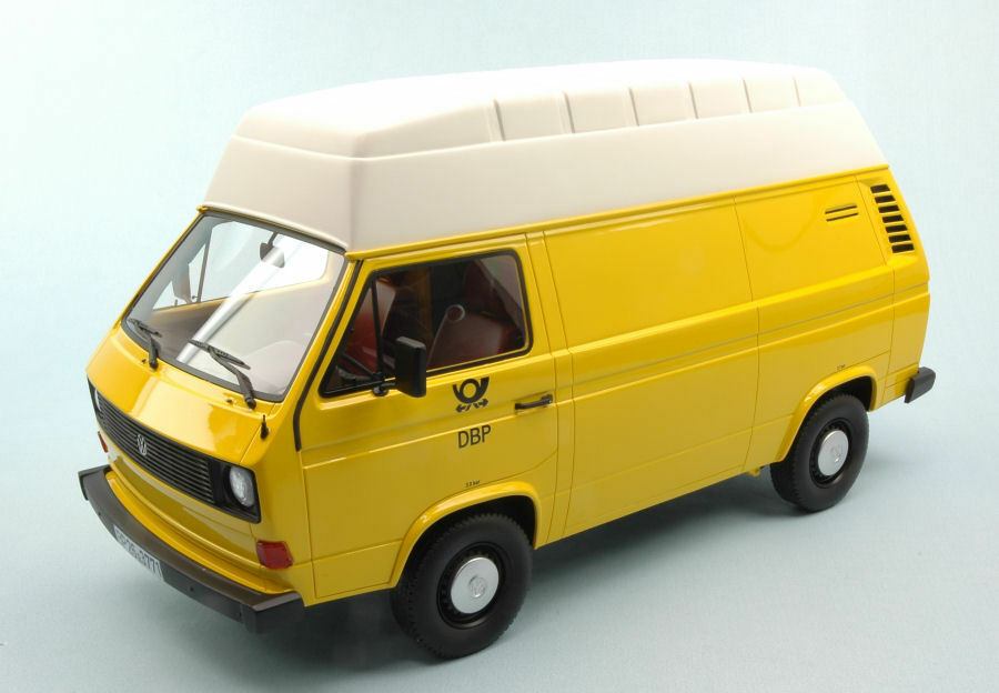 VOLKSWAGEN VW t3 High Roof German Federal postal services DBP YELLOW WHITE 1:18