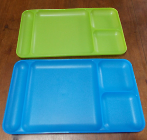Image Is Loading Tupperware Large Divided Dining Trays Tv Lap Set