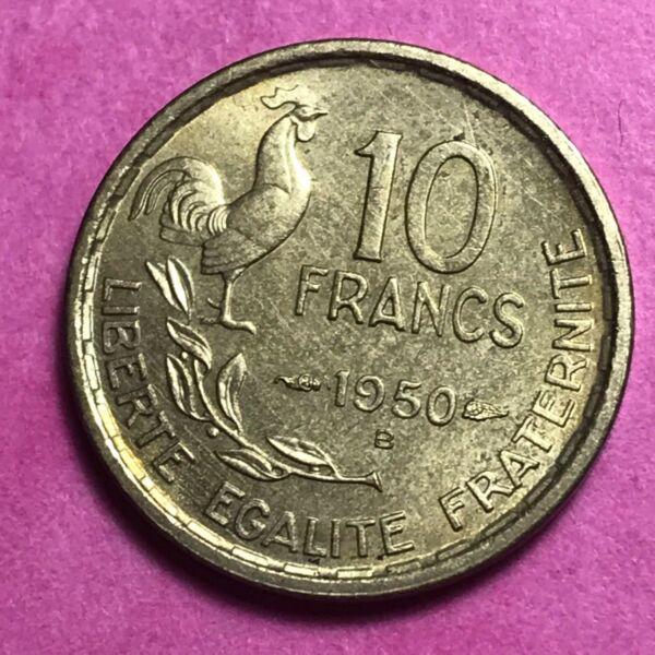 #692 - 10 Francs 1950 B Guiraud Sup/spl - Facture Pour Convenir à La Commodité Des Gens