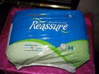 Reassure Men Women Disposable Underwear Adult Diapers 42-65 Waist Incontinence