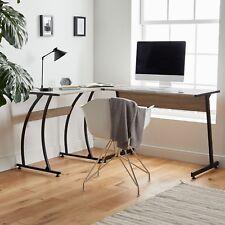 VonHaus Corner L-Shaped Workstation Computer Desk - Home Office Study Workspace