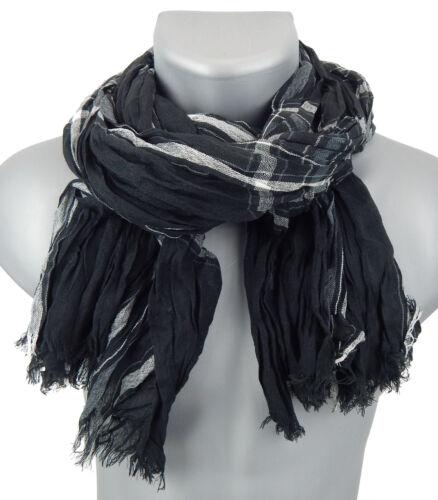 Men/'s Scarf Black Gray White by Ella Jonte Viscose Casual Black Scarf New