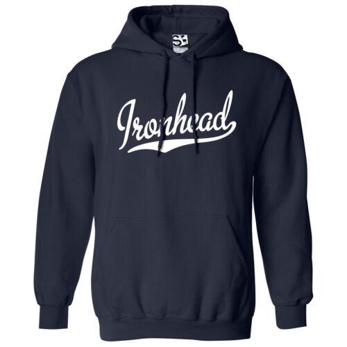 Ironhead Script /& Tail HOODIE All Colors Hooded Bobber Chopper Sweatshirt
