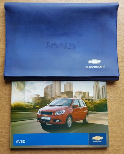 GENUINE CHEVROLET KALOS AVEO HANDBOOK OWNERS MANUAL WALLET 2008-2011 D-82