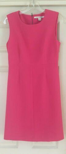 DVF Pink Sleeveless Sheath Dress Shift - Bubblegum