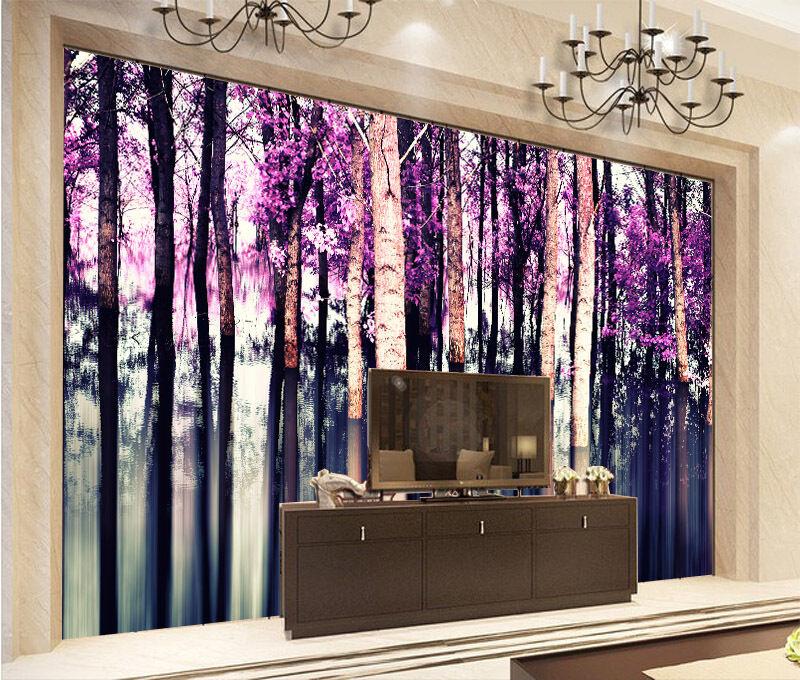 3D lac Fort 6 Photo Papier Peint en Autocollant Murale Plafond Chambre Art