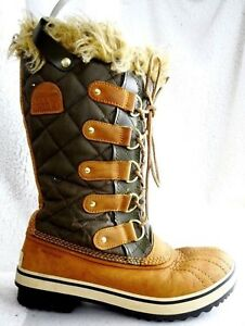 the latest 6bf10 58379 Details about Sorel Tofino Women Sz 7 Lace-Up Boots Winter Snow Hiking  NL1780-316 Camel/Green
