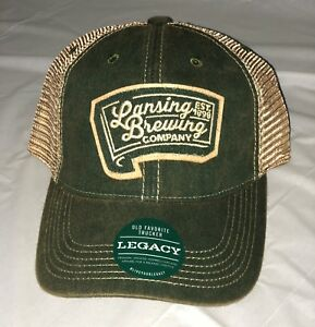 Details about Legacy Lansing Brewing Company Green Trucker Hat