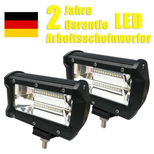 2x-10x Arbeitsscheinwerfer 72W LED Scheinwerfer Offroad Flutlicht IP67 SUV UTV