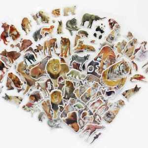 10Sheets-Wild-Animals-Scrapbooking-Bubble-Adhesive-Stickers-Reward-Children-AU
