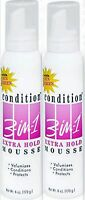 Condition 3-in-1 Hair Mousse, Xtra Hold- 6 Oz (2 Pack)
