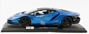 Coche-Modelo-Diecast-Escala-1-18-Edicion-Especial-Azul-Lamborghini-Centenario