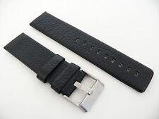 Herren Uhrenarmband Echtleder 24 mm Schwarz für DIESEL Uhren DZ 4341 4361